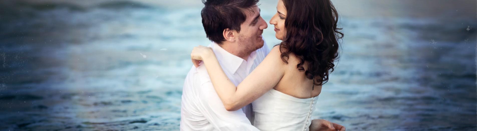 Сватбена фотосесия на плажа Варна